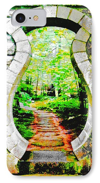 IPhone Case featuring the digital art Abby Aldrich Rockefeller Garden Portal by Lizi Beard-Ward