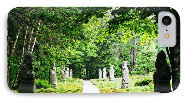 IPhone Case featuring the photograph Abby Aldrich Rockefeller Path Statuary by Lizi Beard-Ward
