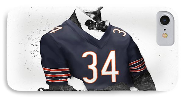 Abe Lincoln In A Walter Payton Chicago Bears Jersey Phone Case by Roly Orihuela