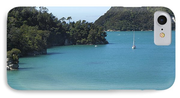 Abel Tasman Bay With Sail Boat IPhone Case by Loriannah Hespe