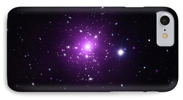 Abell 383 Galaxy Cluster IPhone Case by X-ray: Nasa/cxc/caltech/a.newman Et Al/tel Aviv/a.morandi & M.limousin; Optical: Nasa/stsci, Eso/vlt, Sdss