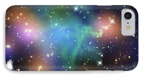 Abell 520 Galaxy Cluster IPhone Case by Nasa, Esa, Cfht, Cxo, M.j. Jee (university Of California, Davis), And A. Mahdavi (san Francisco State University)