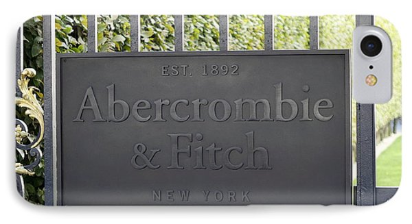 Abercrombie And Fitch Store In Paris France IPhone Case by Richard Rosenshein