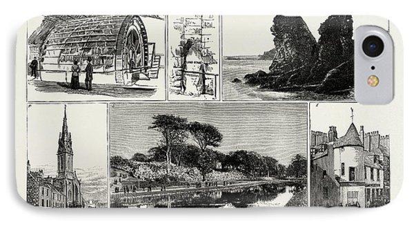 Aberdeen 1. Water-wheel At The Grandhol Tweed Mills. 2 IPhone Case by English School