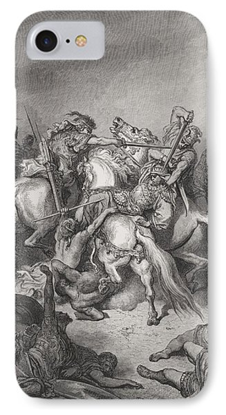 Abishai Saves The Life Of David IPhone Case by Gustave Dore
