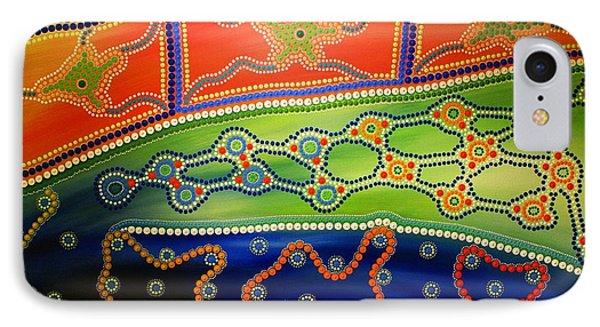 Aboriginal Inspirations 7 IPhone Case by Mariusz Czajkowski