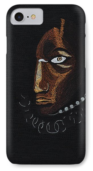 IPhone Case featuring the tapestry - textile Aboriginal Woman by Jo Baner