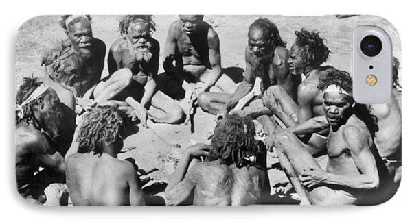 Aborigine Elder Council IPhone Case by Underwood Archives