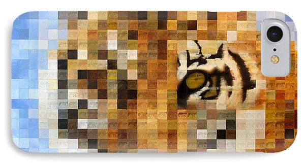 About 400 Sumatran Tigers Acrylic On Paper IPhone Case by Charlie Baird