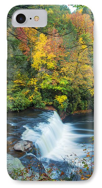 Above Hooker Falls IPhone Case by Andres Leon