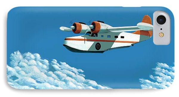 Above It All  The Grumman Goose Phone Case by Gary Giacomelli