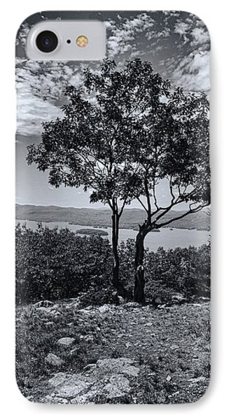 Above Lake George Black And White Phone Case by Joshua House