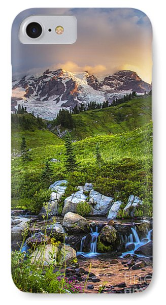 Above Myrtle Falls 3 IPhone Case by Sonya Lang