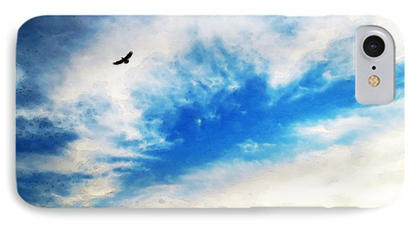 Above The Clouds - American Bald Eagle Art Painting Phone Case by Sharon Cummings