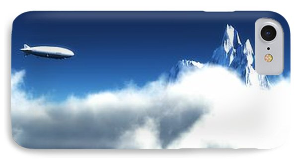 IPhone Case featuring the digital art Above The Clouds... by Tim Fillingim