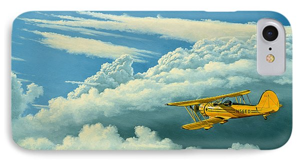 Above The Clouds-waco Biplane Phone Case by Paul Krapf