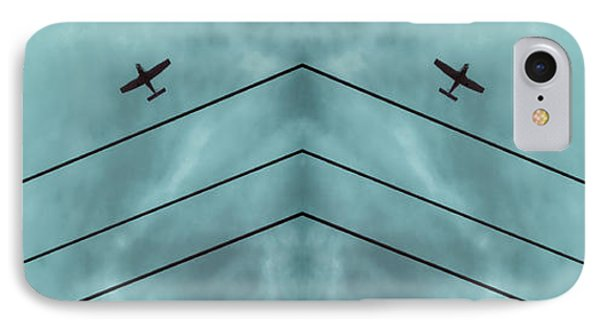 Above The Lines Blue Panorama IPhone Case by Tony Grider