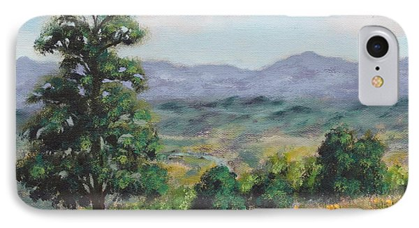 Above The Valley  IPhone Case by Alan Mager