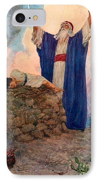 Abraham And Isaac On Mount Moriah IPhone Case by William Henry Margetson