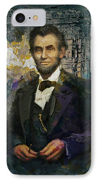 Abraham Lincoln 01 IPhone Case by Corporate Art Task Force