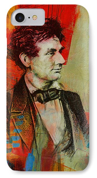 Abraham Lincoln 04 IPhone Case by Corporate Art Task Force