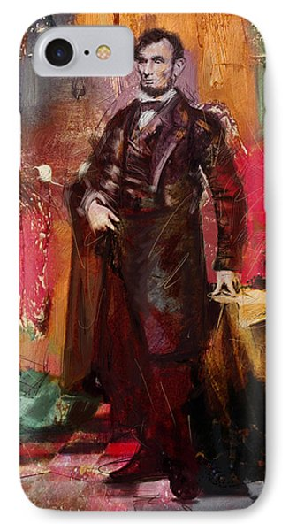 Abraham Lincoln 05 IPhone Case by Corporate Art Task Force