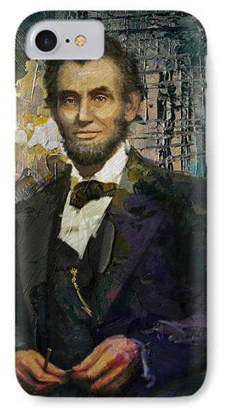 Abraham Lincoln 07 IPhone Case by Corporate Art Task Force