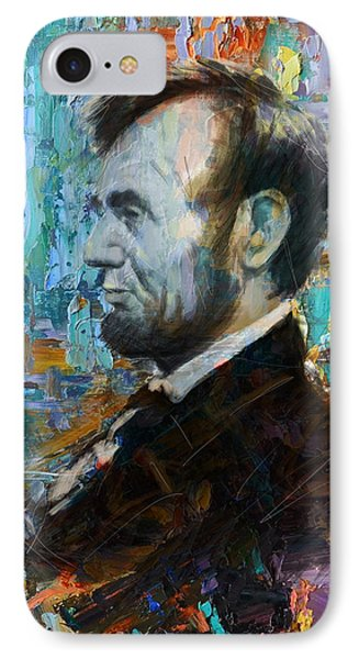 Abraham Lincoln 6 IPhone Case by Corporate Art Task Force