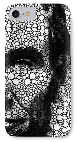 Abraham Lincoln - An American President Stone Rock'd Art Print Phone Case by Sharon Cummings