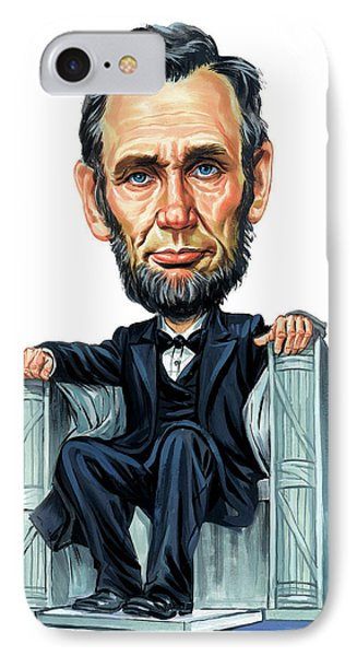 Abraham Lincoln IPhone Case by Art