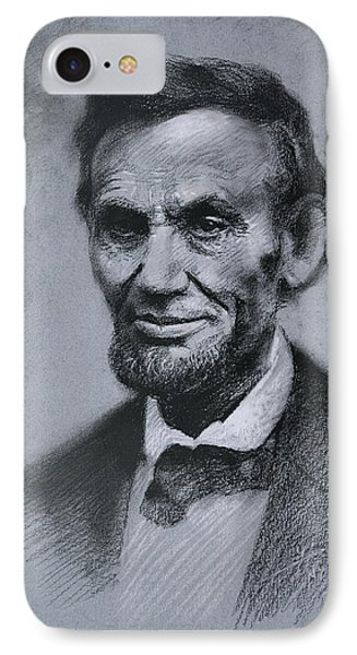 IPhone Case featuring the drawing Abraham Lincoln by Viola El