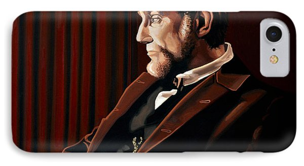 Abraham Lincoln By Daniel Day-lewis IPhone Case by Paul Meijering