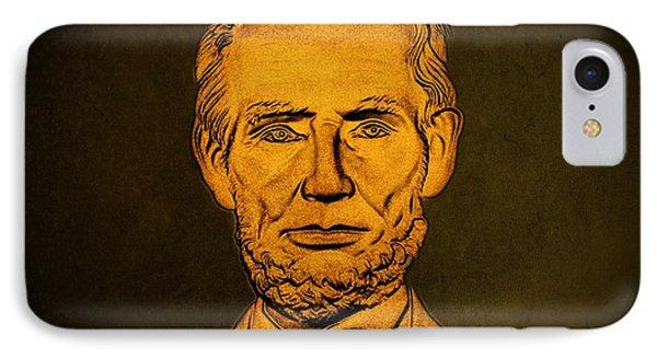 Abraham Lincoln  Phone Case by David Dehner