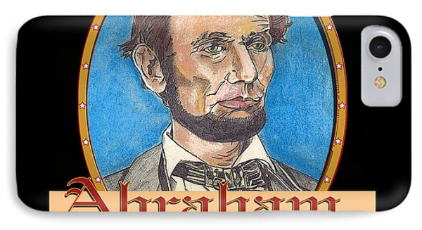 Abraham Lincoln Graphic Phone Case by John Keaton