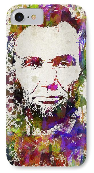 Abraham Lincoln In Color IPhone Case by Aged Pixel