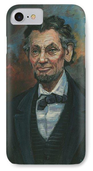 Abraham Lincoln IPhone Case by Kaziah Hancock
