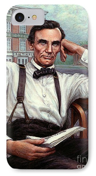 Shanghai iPhone 7 Case - Abraham Lincoln Of Springfield Bicentennial Portrait by Jane Bucci