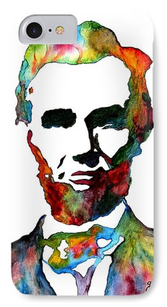 Abraham Lincoln Original Watercolor  IPhone Case
