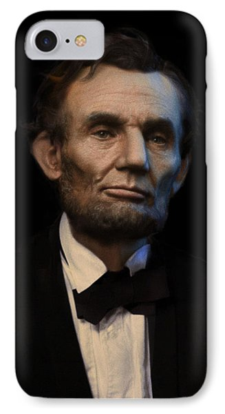 Abraham Lincoln Portrait Phone Case by Ray Downing