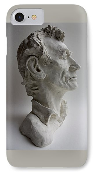 Abraham Lincoln- Profile IPhone Case by Derrick Higgins