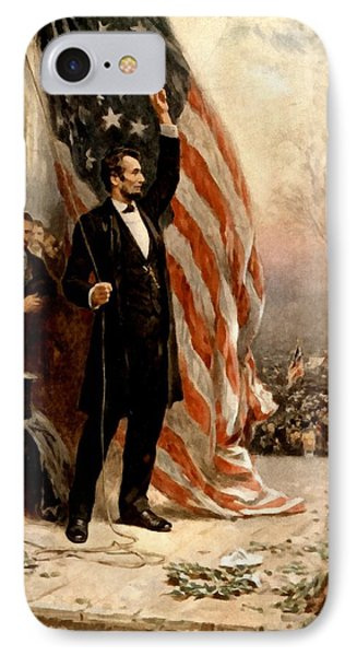 Abraham Lincoln Raising The Flag IPhone Case