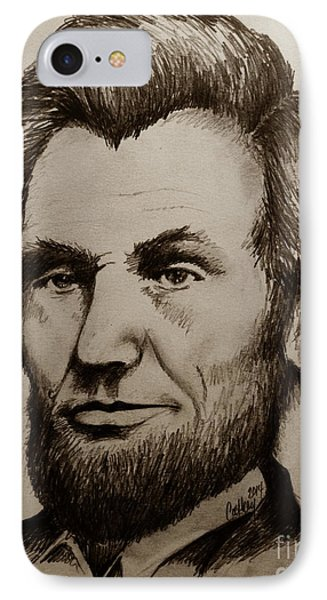 Abraham Lincoln Sepia Tone IPhone Case
