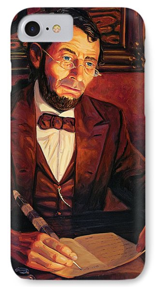 Abraham Lincoln IPhone Case by Steve Simon