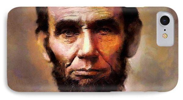 Abraham Lincoln IPhone Case by Wayne Pascall