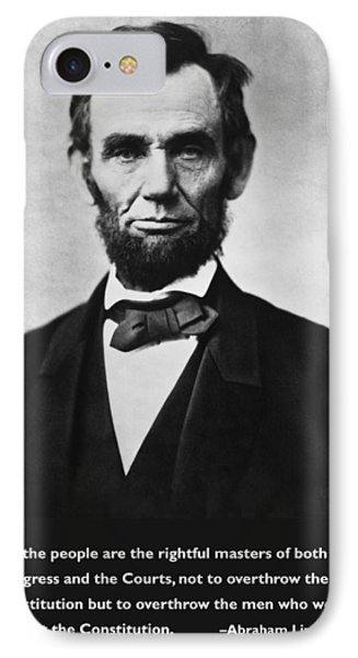 Abraham Lincoln We The People IPhone Case by Unknown