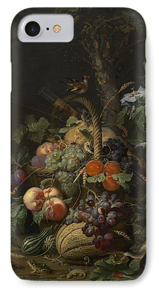Abraham Mignon Still Life With Fruit Fish And A Nest C 1675 IPhone Case