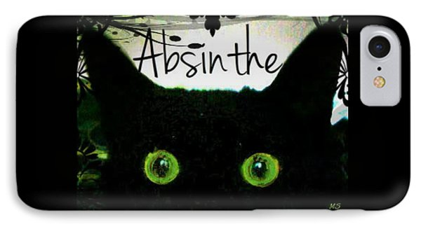 Absinthe Black Cat IPhone Case by Absinthe Art By Michelle LeAnn Scott