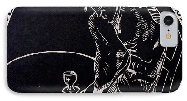 Absinthe Drinker After Picasso Phone Case by Caroline Street