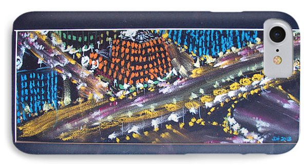 IPhone Case featuring the drawing Absrtract Traffic by Joseph Hawkins