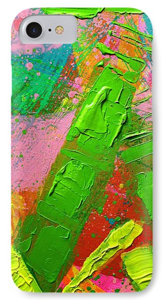 Abstract 6814 Diptych Cropped Xvii IPhone Case by John  Nolan